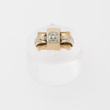 French gold Tank ring from 1940