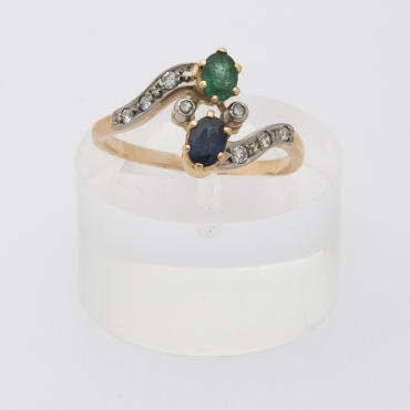 You and Me, French Art Nouveau ring