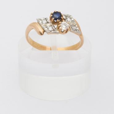 Bague toi et moi saphir et diamants
