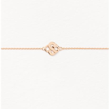 Bracelet Coeur entrelacé or rose