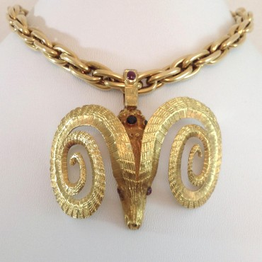 Ilias Lalaounis Ram Pendant