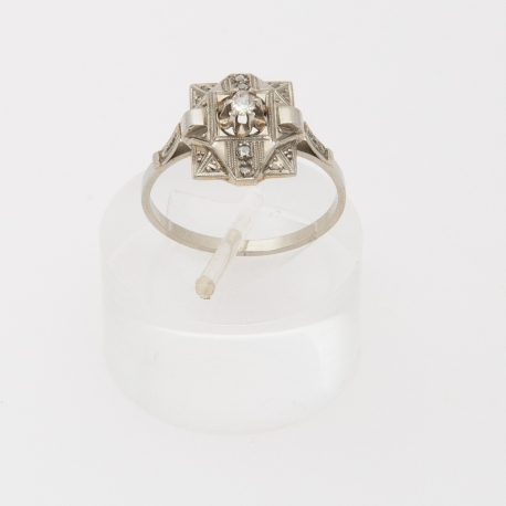 French Art Deco square ring