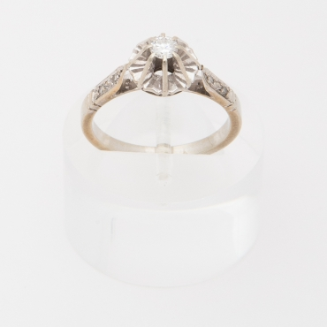 French Victorian engagement ring