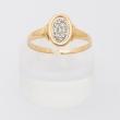 French round diamond pavement ring