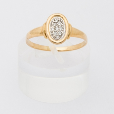 French round diamond pavement ring