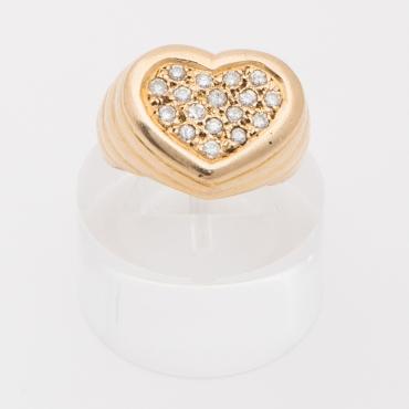 Bague cœur pavé de diamants