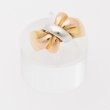 Three-tone gold Bow ring.