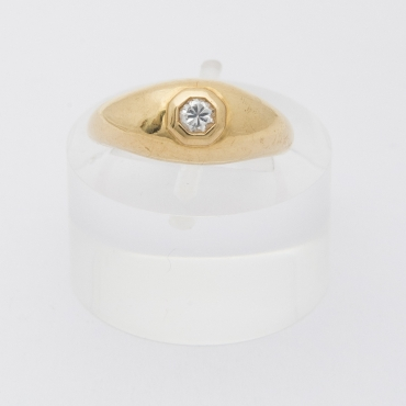 French Diamond Band ring