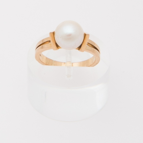 French 1950 Akoya pearl ring