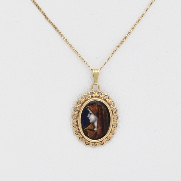 Enameled Virgin Mary on Gold