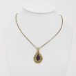 Drop Amethyst and Gold Pendant