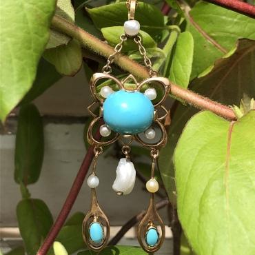 Turquoises et Perles en Talisman