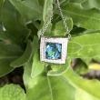 Aquamarine and Diamond White Gold Necklace