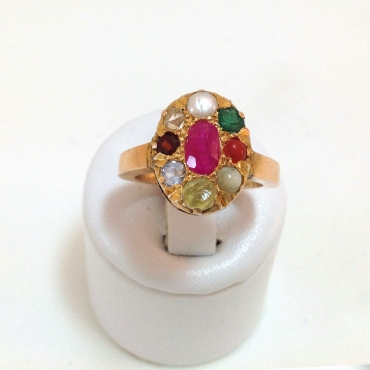 Tutti Frutti Medieval Styled Ring
