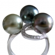 The Three of us Tahitian Pearl Ring
