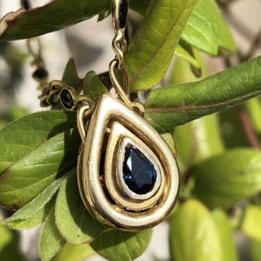 Sapphire Drop Pendant
