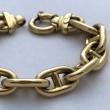 Bracelet style Hermes Grande Maille Marine
