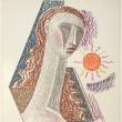 Mario Tozzi Lithographie Femme soleil