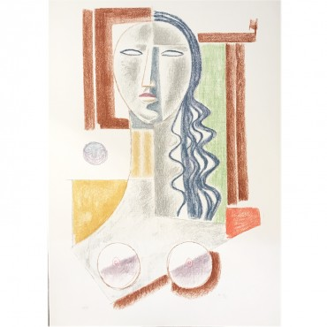 Mario Tozzi Lithographie Femmes chef